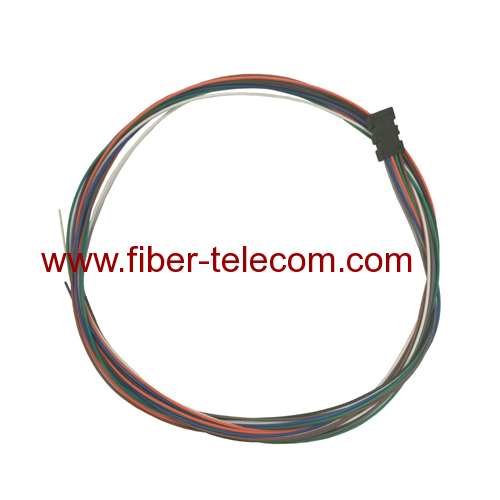 8 Fiber SM Multi Color Fiber Optical Pigtails