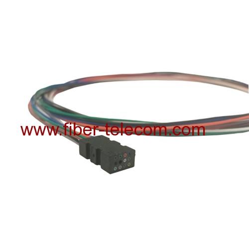 8 Fiber SM Multi Color Fiber Optical Pigtails