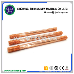 Copper ground rod for lightning protection