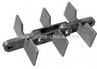 China Professional Carbon Steel Forging Scraper Chain / Drop Forged Conveyor Chain