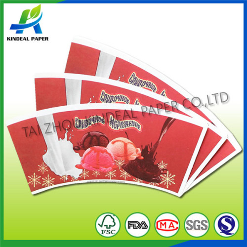 Pe coated paper cup blanks for cold drink
