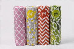 custom recycled printed cardboard paper lipstick tube wholesale