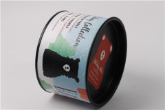 szfortress wholesale luxury matte lamination round candle tube packaging with tinplate