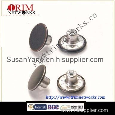 Brass jeans round metal button maker