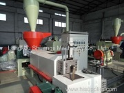 Recycling granulator Test machine running