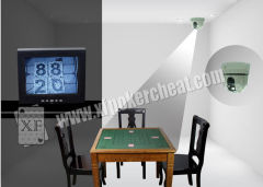 5 Inches Black Plastic PTZ Casino Cheating Devices For Invisible Marking Cards