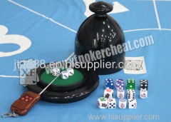 Black Plastic Electric Shaker Cup For Casino Dice Gambling Cheat With Remote Control