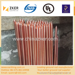 copper clad pointed-end ground rod