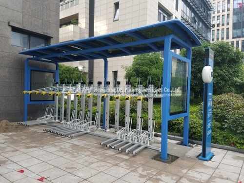 two level bike rack