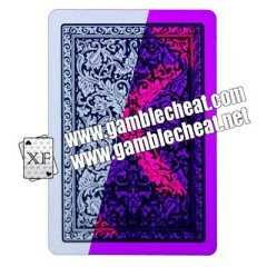 Blue And Red Poker Size Jumbo Face Plastic Playing Cards With Invisible Ink Markings