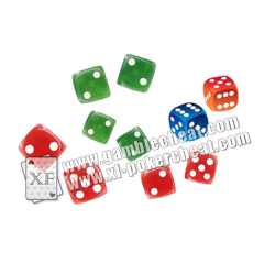 Colorful Plastic 8 / 10 / 12 / 14mm Casino Games Liquid Dice For Betting Games Cheat