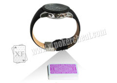 Black Leather Strap Watch Camera For Poker Analyzer To Scan Edge Bar-Codes Side-Marks Playing Cards