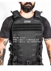 Durable Black Hypalon Fabric for Military Tactical Vest