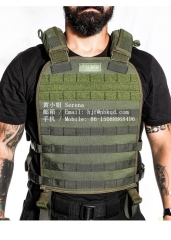 750 Wear Resistant Foliage Green Hypalon Coated Fabric Police Vest
