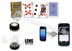 Transparent Water Bottle Camera for Scanning Marked Poker Cards Casino Cheating Devices