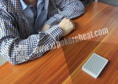 Magic Tricks Hidden Wireless Button Camera Poker Scanner Poker Card Reader
