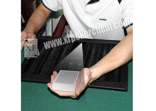 Poker Scanner Black Plastic Poker Table Chip Tray With Hand - Held Camera