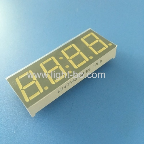 Ulrta bright white 4 digit 0.56  common anode 7 segment led display for instrument panel