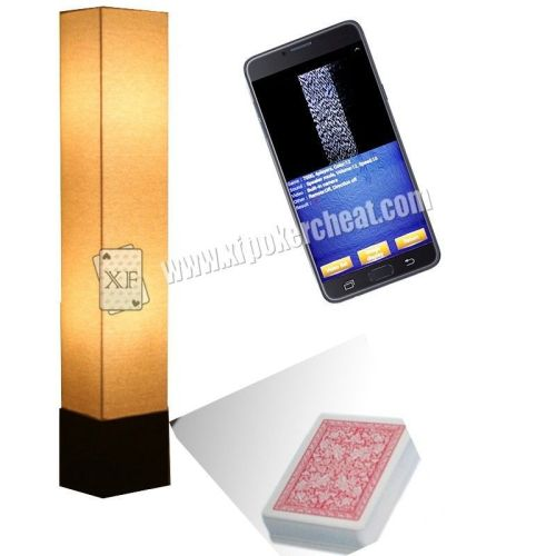 Floor Lamp Infrared Camera For Side Marked Barcode Playing Cards PK S708 Analyzer