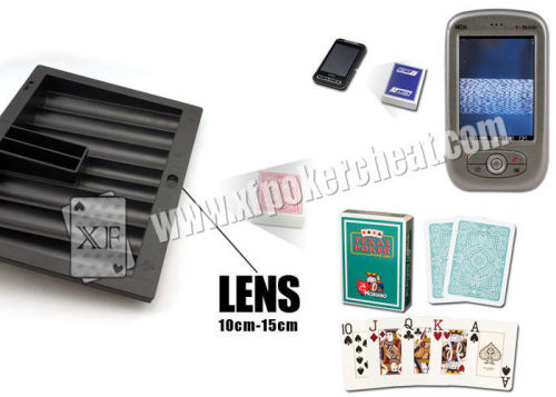 Black Plastic Poker Scanner Casino Chip Tray Camera Approved ISO9001