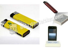 Poker Scanner Yellow Plastic Lighter IR Zippo Camera / Cigarette Lighter Spy Camera