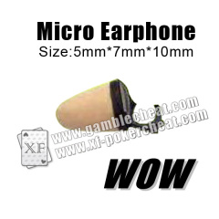 Wonderful Output Gambling Device Plastic Mini Wireless Earpiece For Poker Cheating