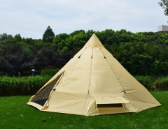Large space teepee tent for 10-12 persons