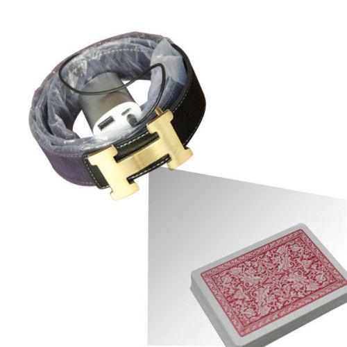 CVK730T Black Leather Belt Dynamic Camera for Scanning Invisible Poker Barcodes