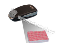 Audi Car Key Camera Poker Card Scanner For Bar Code Sides Marked Cheating Playing Cards