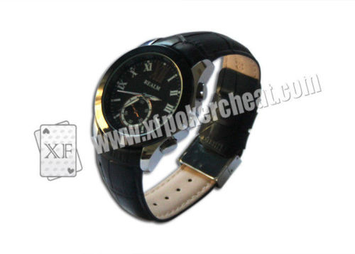 Leather Classic Watch Poker Scanner With Camera For Scanning Bar Codes Cards