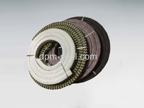 Braided packing for pump gland valve gland and manhole seal