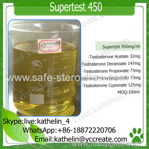 Mixed Steroids Powder Supertest 450 for Injectable Solution to Gain Muscle