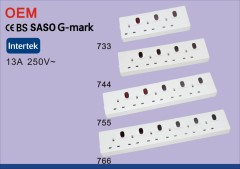 SASO CE G-MARK uk power strip long surge protector