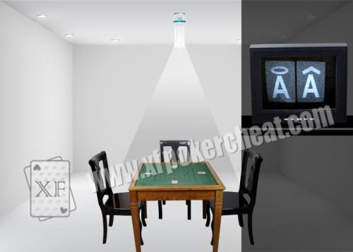 LED Mini pinehole Backside Camera Poker Game Monitoring System For Gambling Cheating