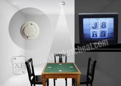 Casino Smoke Sensor Spy Camera System For Back Marked Cards In Poker Games
