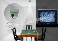 Monitor Pinehole Camera With Monitoring System For Omaha Gambling Game