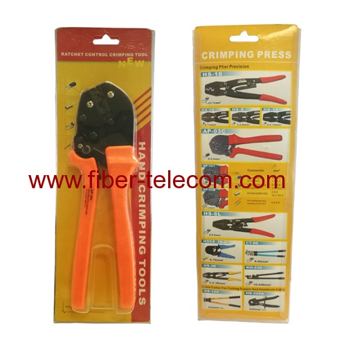 Ratchet Control Crimping Tool for Non-insulated Cable Links