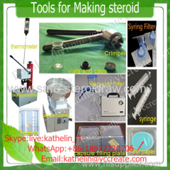 Steroid tools(vials/crimper/filter/capsule filling machine..ect) helps u to make steroids at home easily