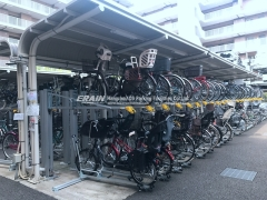 double tiered bike rack