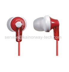 Panasonic RP-HJE120-R Ergo Fit In-Ear Inner Stereo Wired Earbuds Headphones Red For iPod iPhone iPad