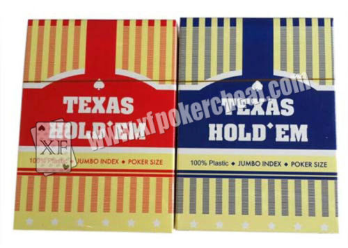 Texas Hold'em Poker Size Jumbo Index Are Made Of Plastic With Invisible Ink Markings