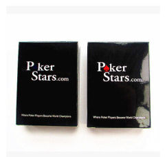 Gambling Props With 2 Jumbo Index Of Poker Star Blue Red Plastic Playing Card
