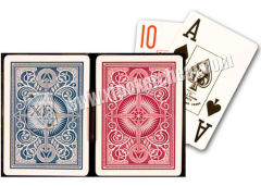 Gambling Props Playing Cards Kem Arrow Plastic Blue Red Poker Size Jumbo Index