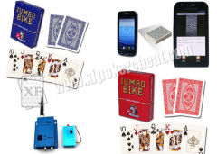Jumbo Bike Modiano Trophy Plastic Playing Cards With Invisible Ink Markings For Contact Lenses