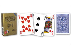 Playing Cards With Single Deck On 4 Regular Index Plastic Modiano Golden Trophy