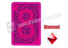 Plastic Jumbo Index Poker Size Playing Cards With Red Ink Markings For UV Invisible Contact Lenses