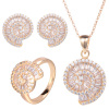 Gravity Hot Selling Unique Elegant Luxury Saudi Dubai Imitation 24k Gold Plated Jewellery Sets