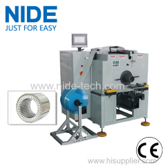 automatic motor stator insulation paper inserting machine for generator and deep pump motor