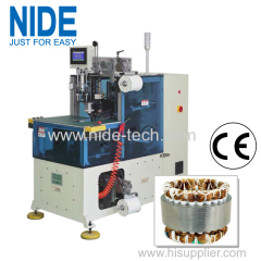 NIDE Automatic Servo Double Sides Stator Winding Lacing Machine for electric motor