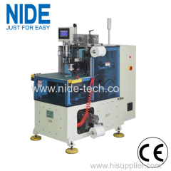Automatic single phase motor stator winding lacing machine